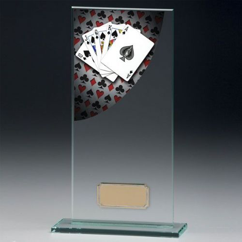Colour Curve Poker Jade Glass Award 160mm